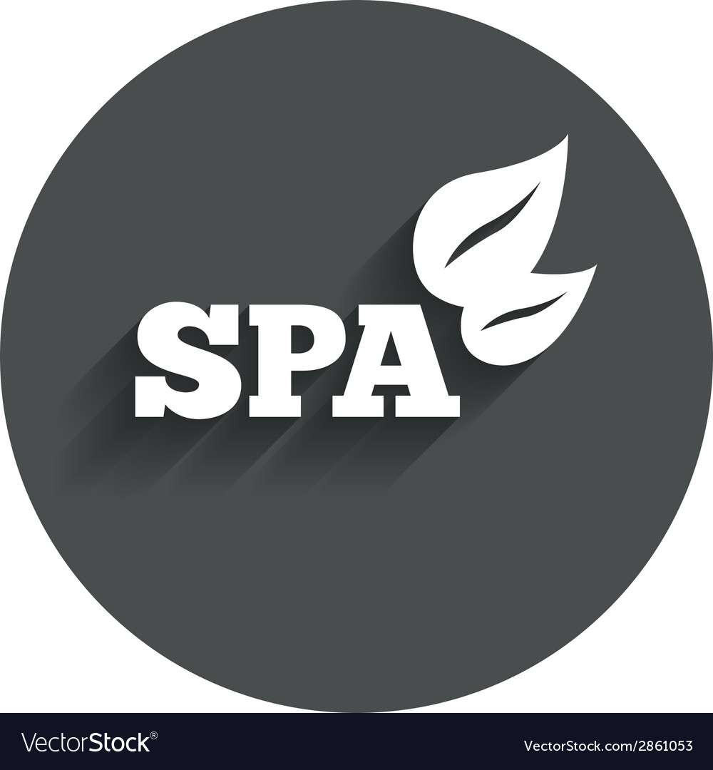 Spa sign icon spa leaves symbol vector | Price: 1 Credit (USD $1)