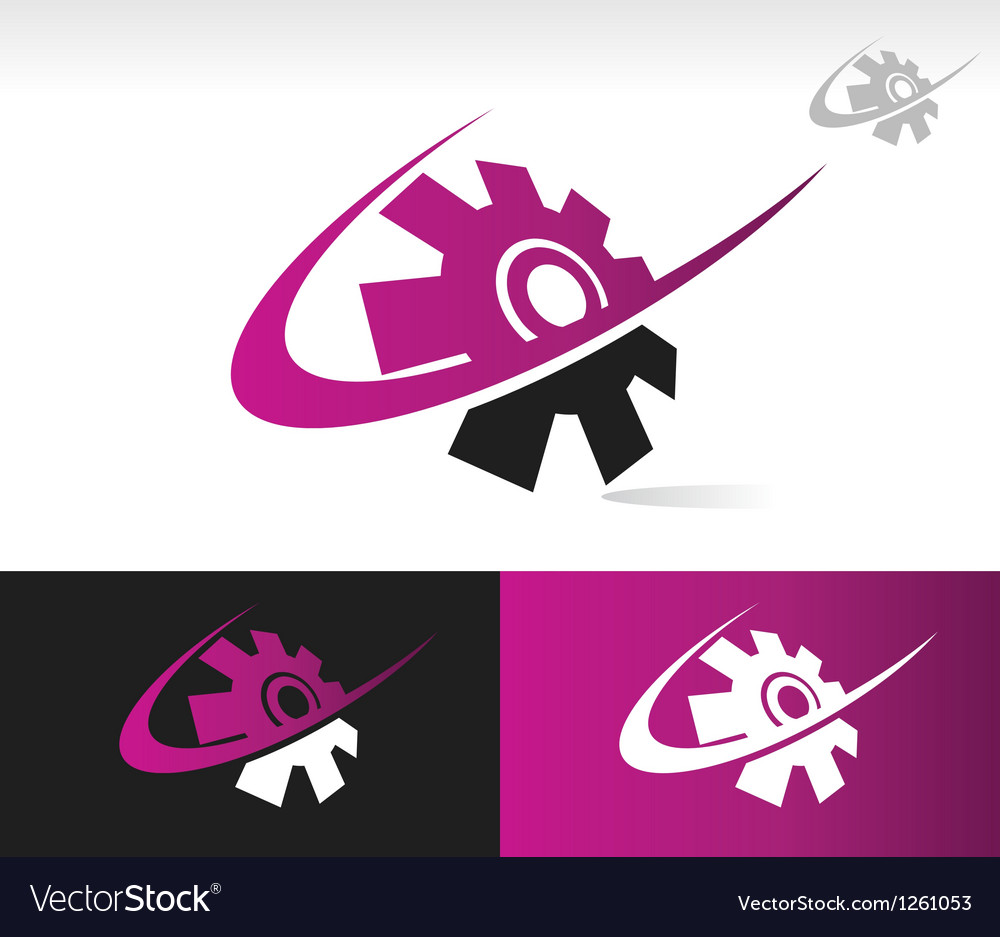 Swoosh gear icon vector | Price: 1 Credit (USD $1)