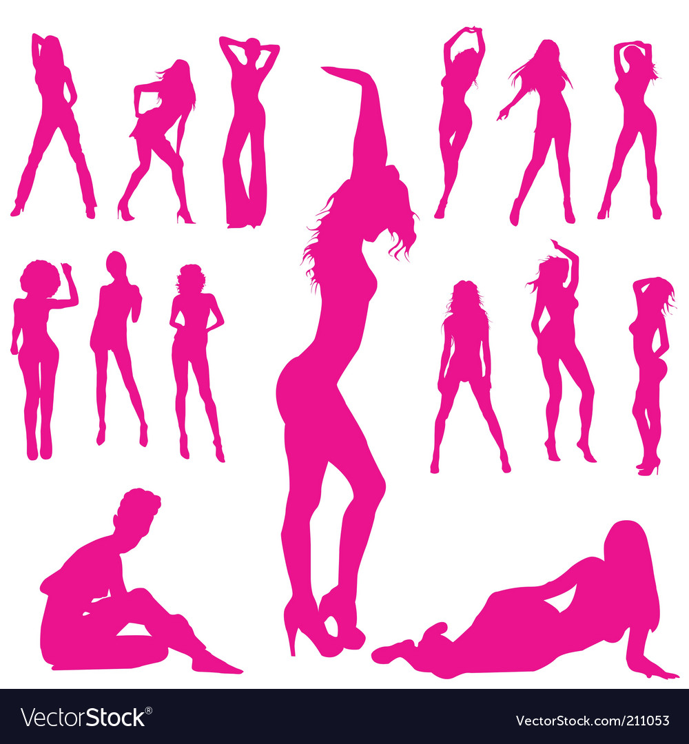 Woman silhouettes vector | Price: 1 Credit (USD $1)