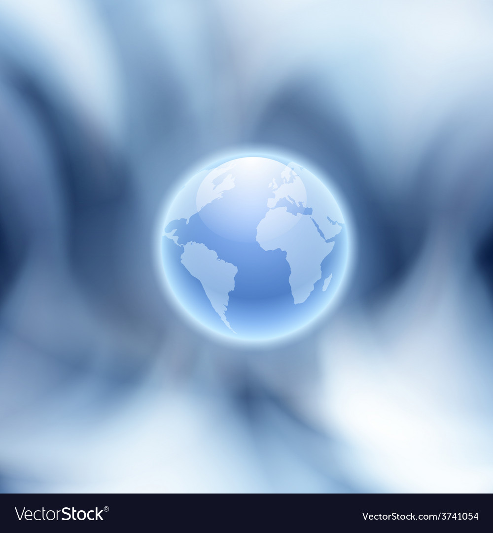 Abstract blue background with globe vector | Price: 1 Credit (USD $1)