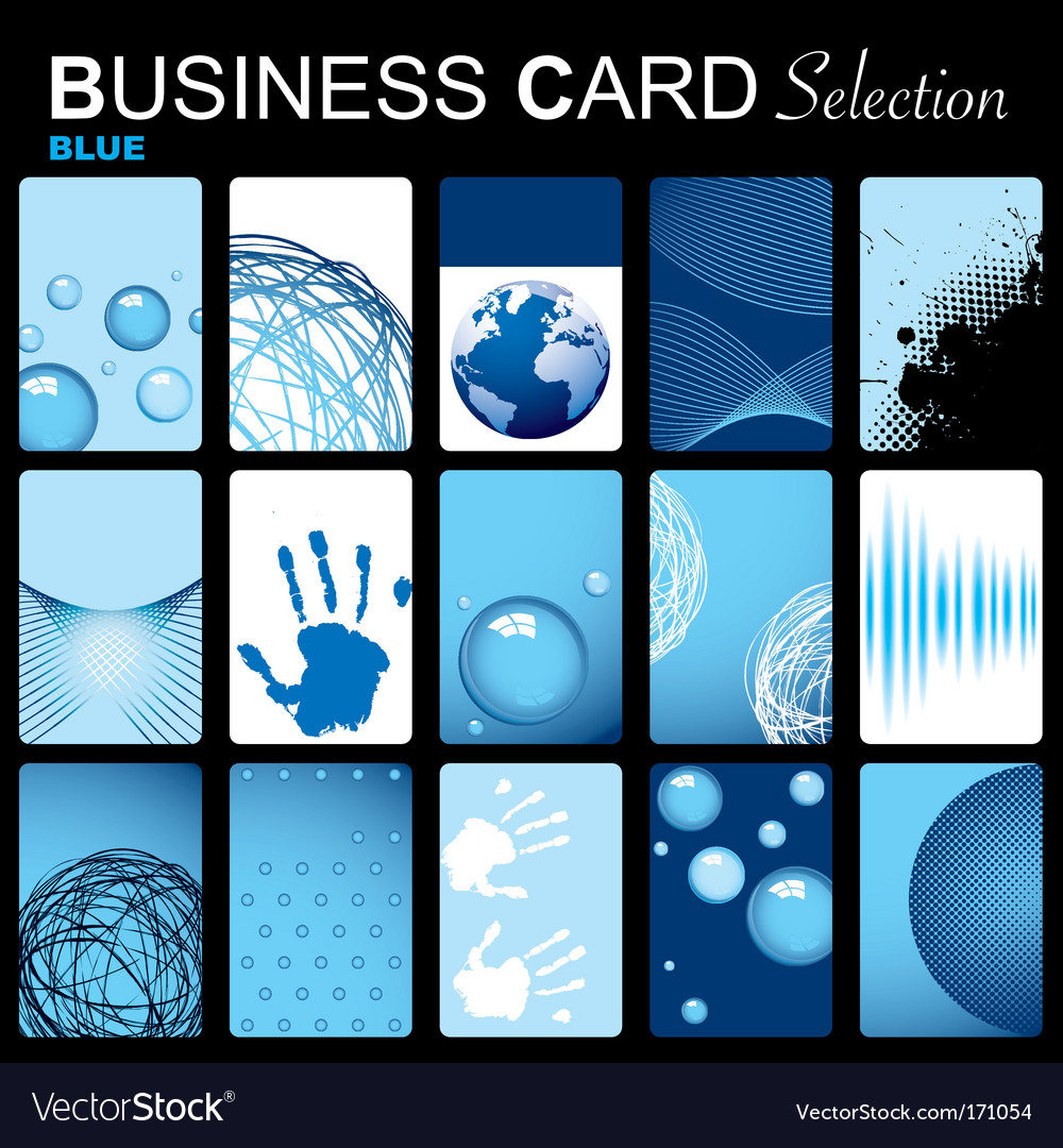 Business card selection vector | Price: 1 Credit (USD $1)