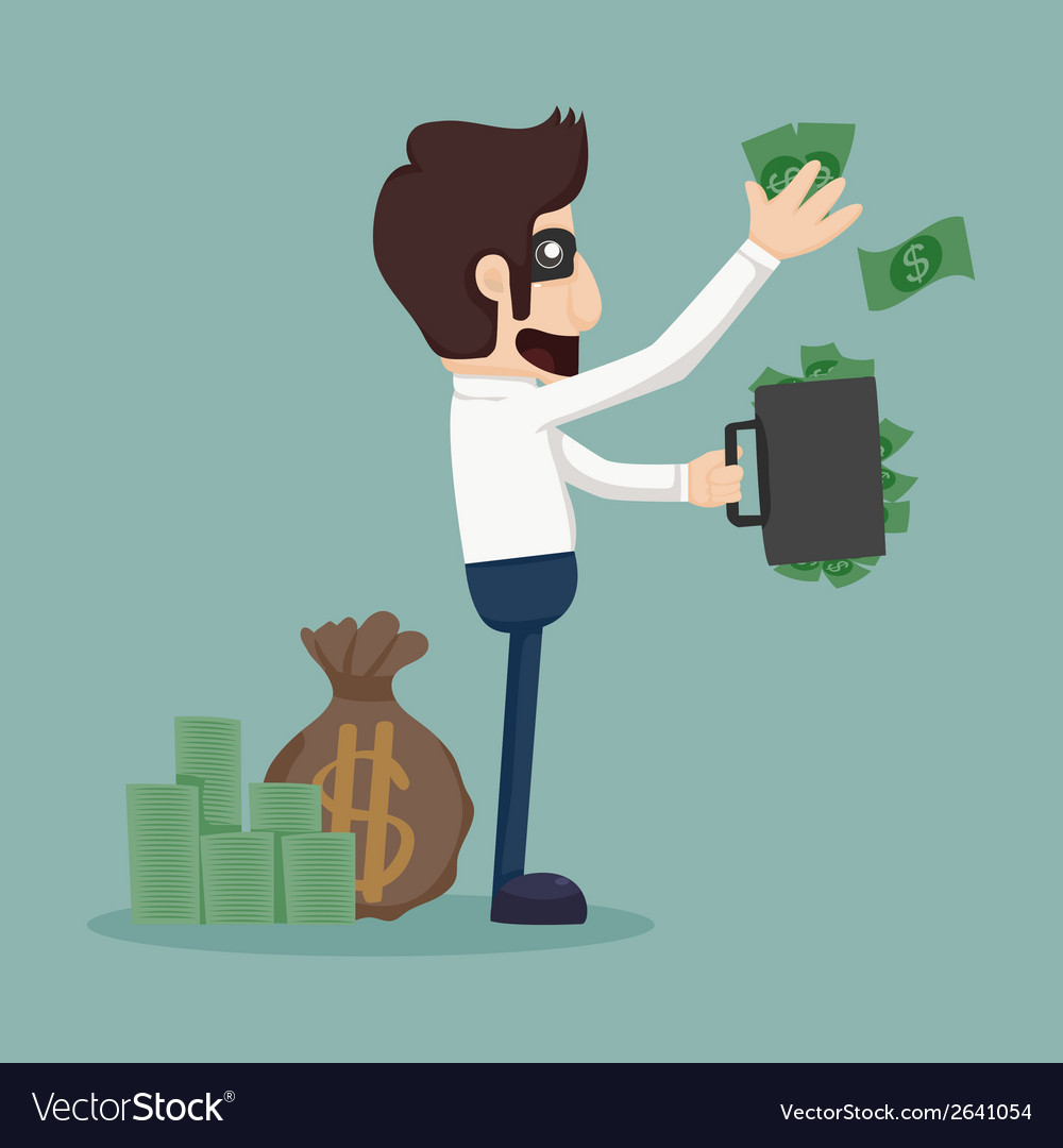Businessman corruption concept vector | Price: 1 Credit (USD $1)