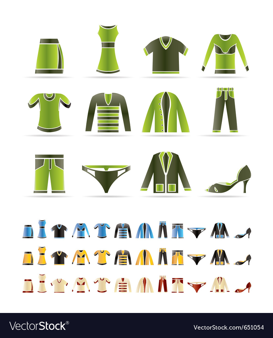 Clothing icons - icon se vector | Price: 1 Credit (USD $1)