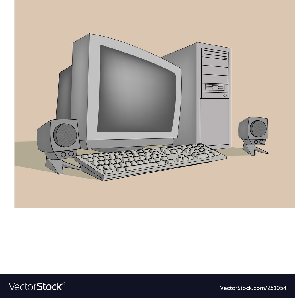 Computer vector | Price: 3 Credit (USD $3)