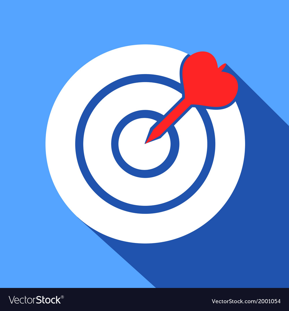 Dart in the dartboard center icon vector | Price: 1 Credit (USD $1)