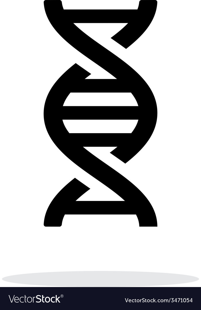 Dna icon on white background vector | Price: 1 Credit (USD $1)
