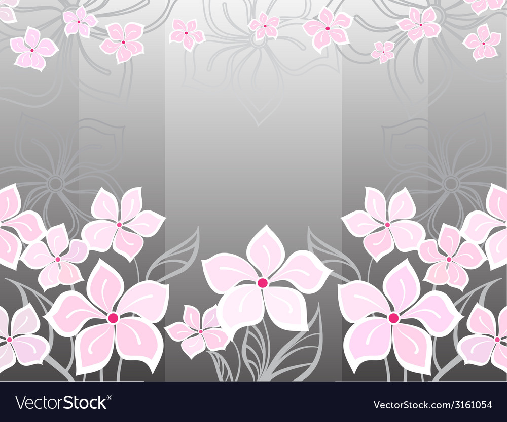 Grey flower background vector | Price: 1 Credit (USD $1)