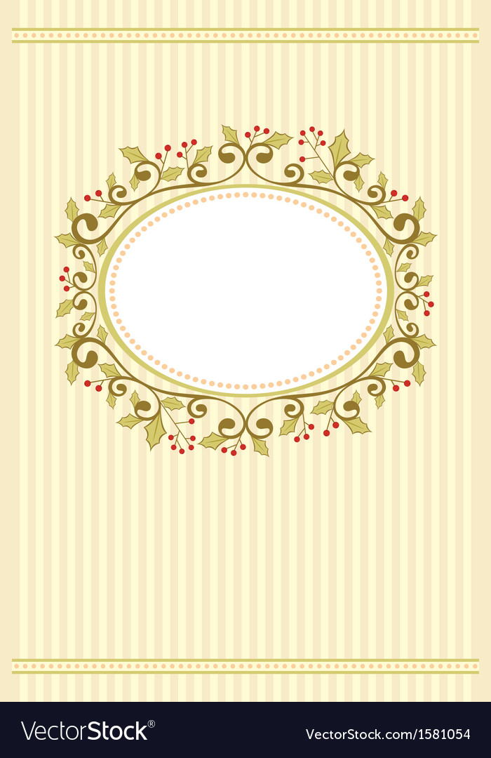 Holly christmas card vector | Price: 1 Credit (USD $1)