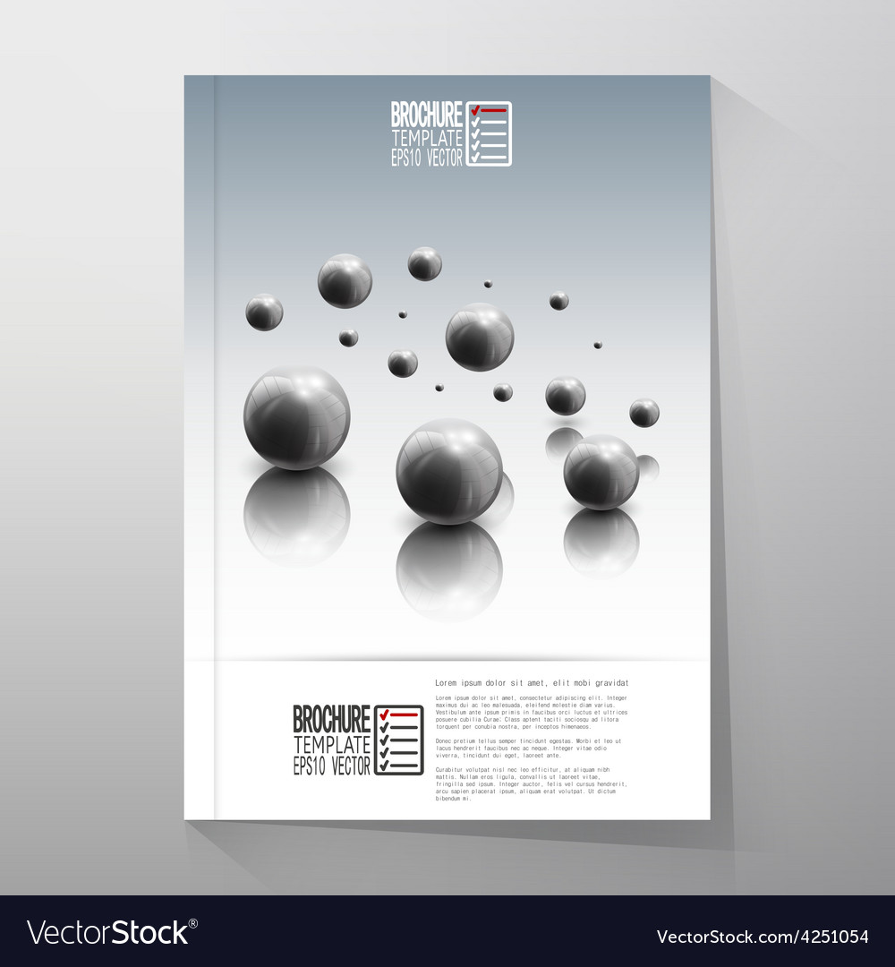 Spheres in motion on gray background brochure vector | Price: 1 Credit (USD $1)