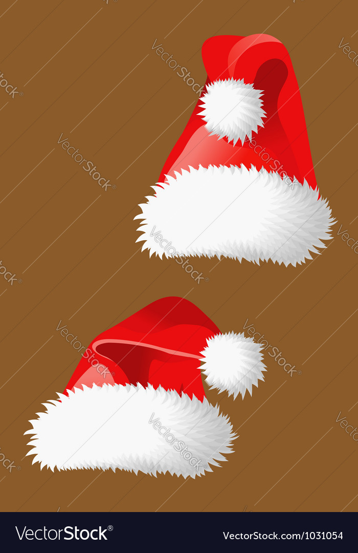 Two red christmas hats of santa claus vector | Price: 1 Credit (USD $1)