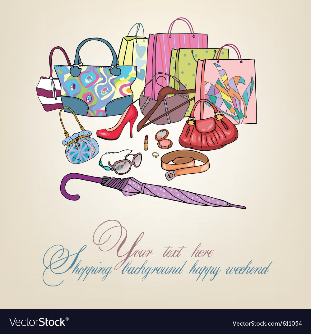 Womens accessories shopping vector | Price: 1 Credit (USD $1)
