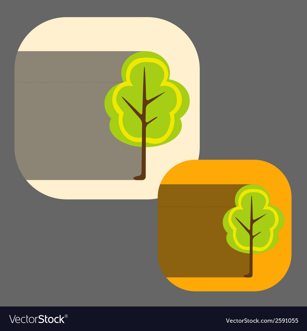Beautiful icon flat blossoming tree eps vector   Price: 1 Credit (USD $1)