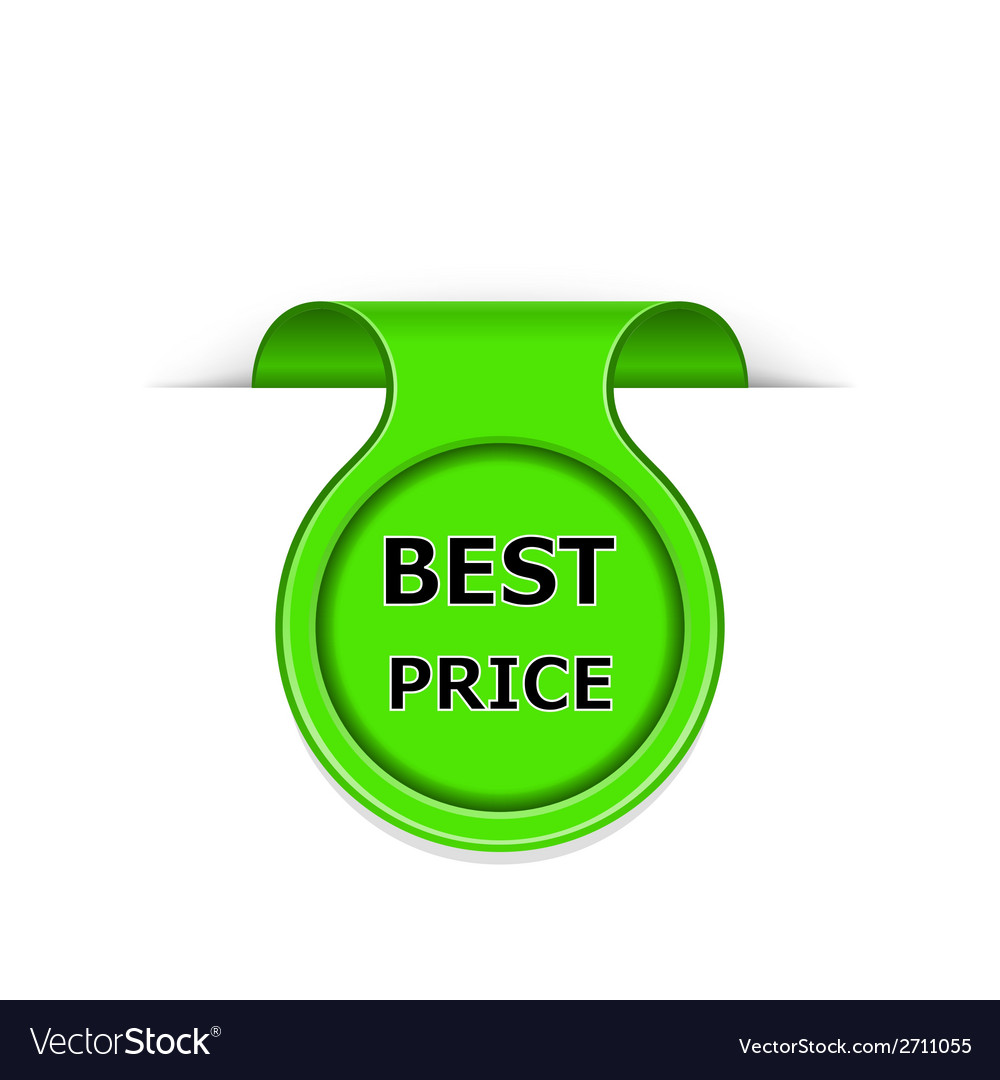 Bookmark with best price message vector | Price: 1 Credit (USD $1)