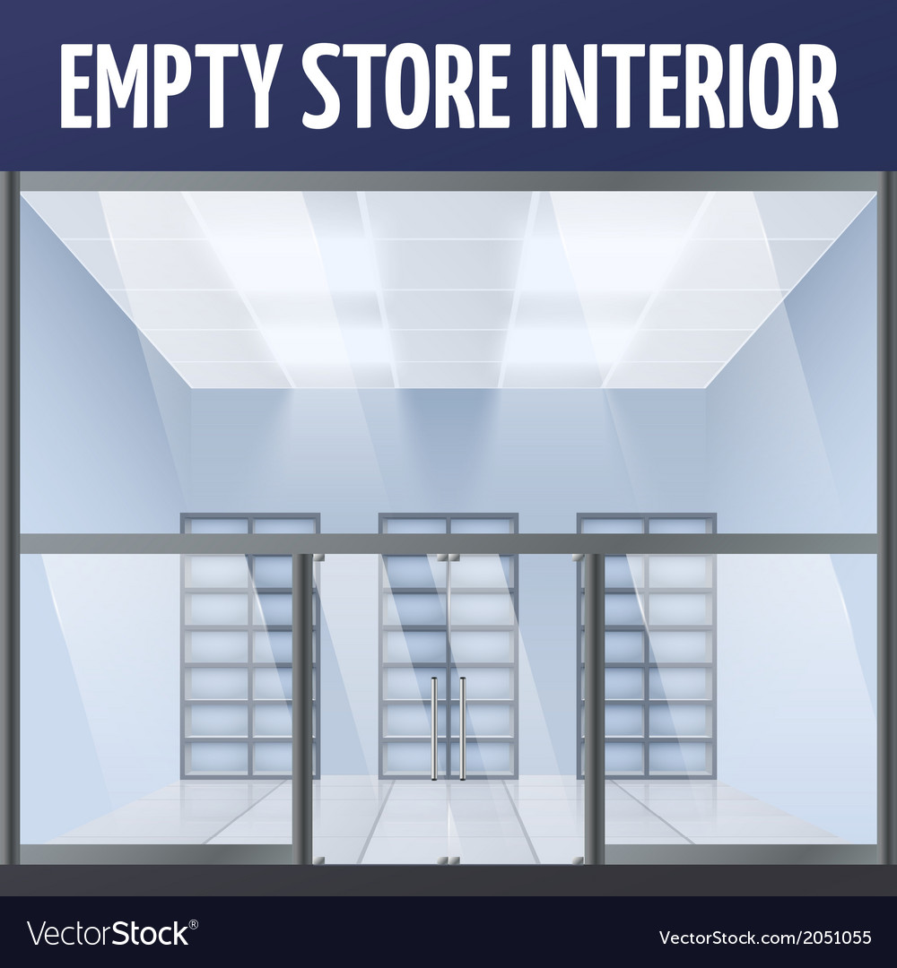 Empty store interior vector | Price: 1 Credit (USD $1)