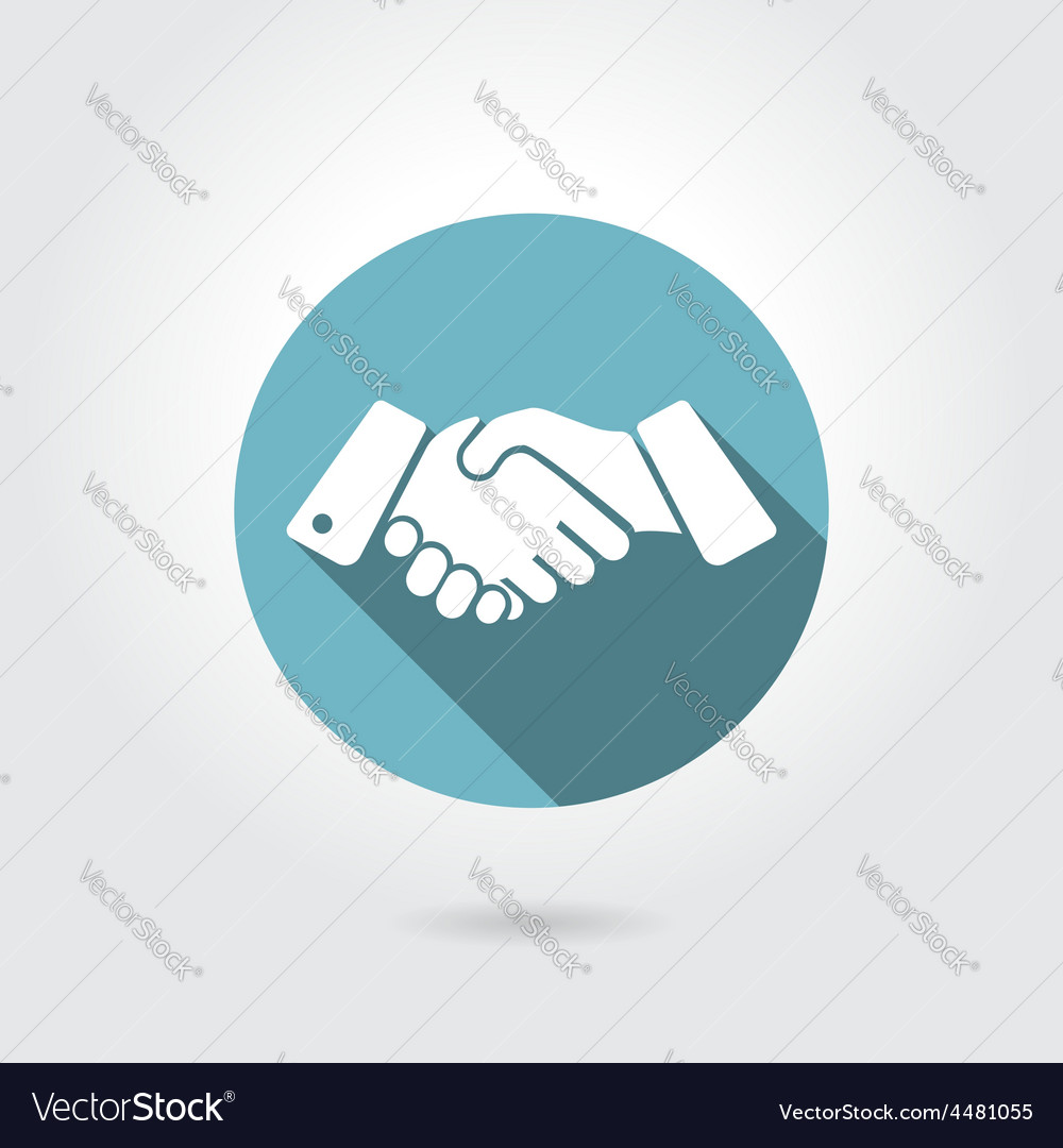 Icon shaking hands vector | Price: 1 Credit (USD $1)