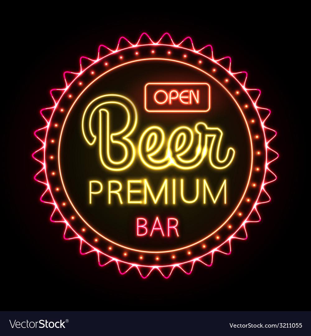 Neon sign beer bar vector | Price: 3 Credit (USD $3)