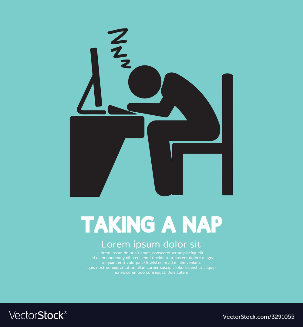 Taking a nap graphic symbol vector | Price: 1 Credit (USD $1)