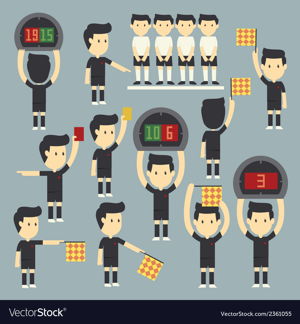 Umpire football vector | Price: 1 Credit (USD $1)