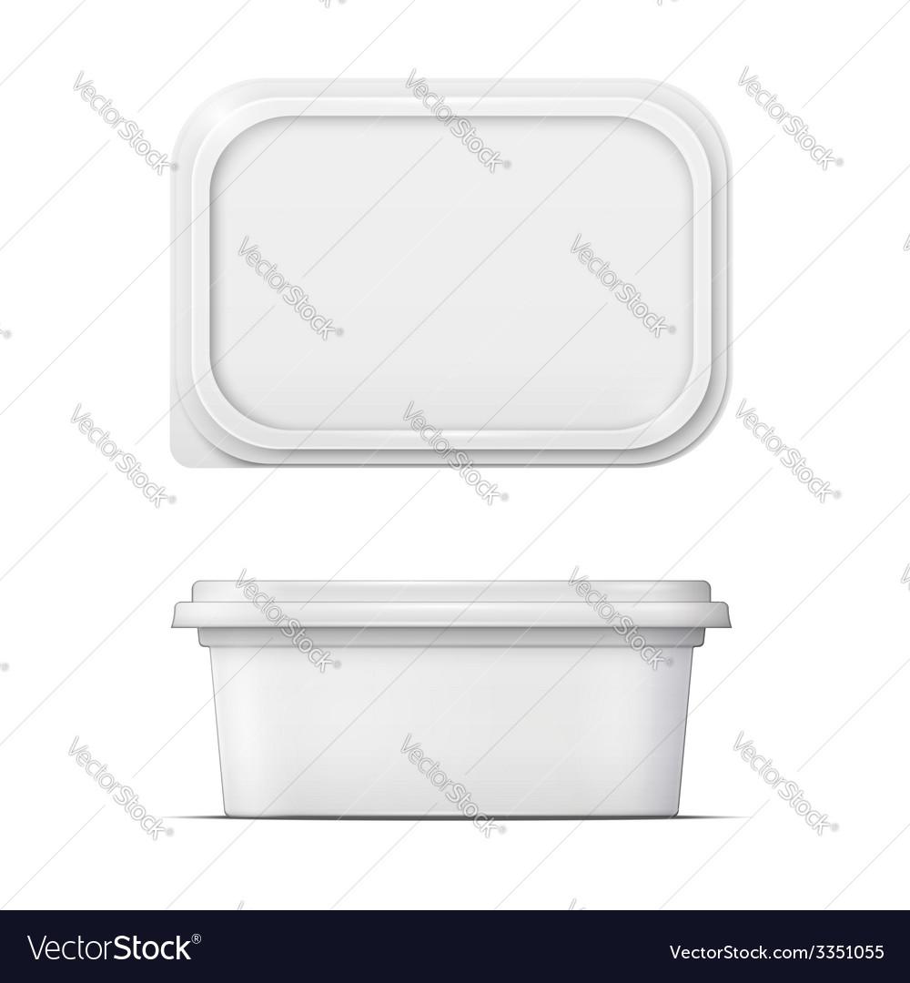 White margarine spread template vector | Price: 1 Credit (USD $1)