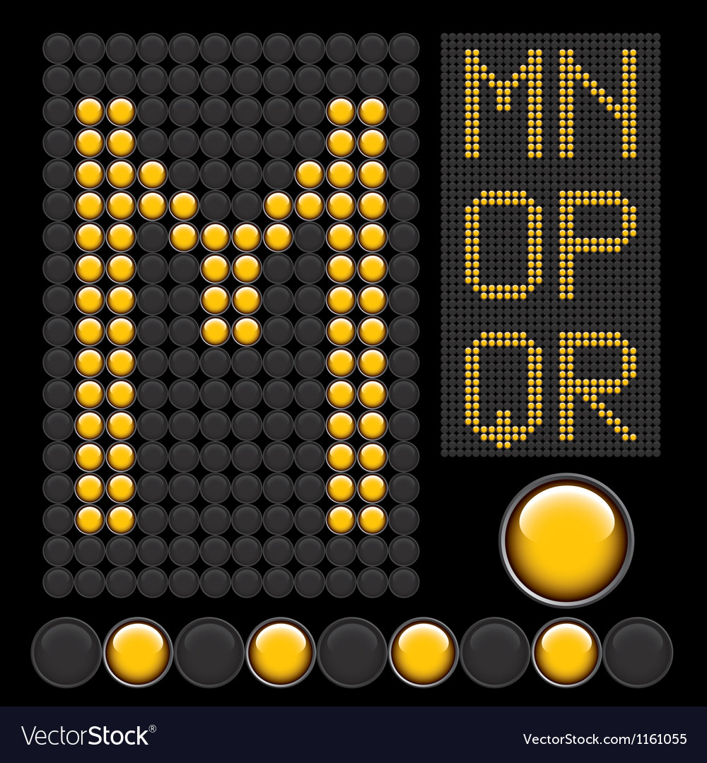 Yellow button letters 3 vector | Price: 1 Credit (USD $1)