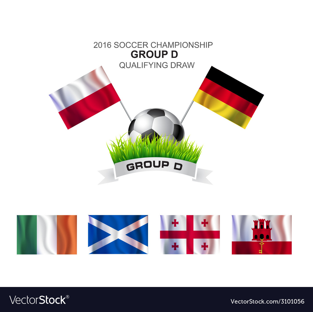 2016 soccer championship group d qualifying draw vector | Price: 1 Credit (USD $1)