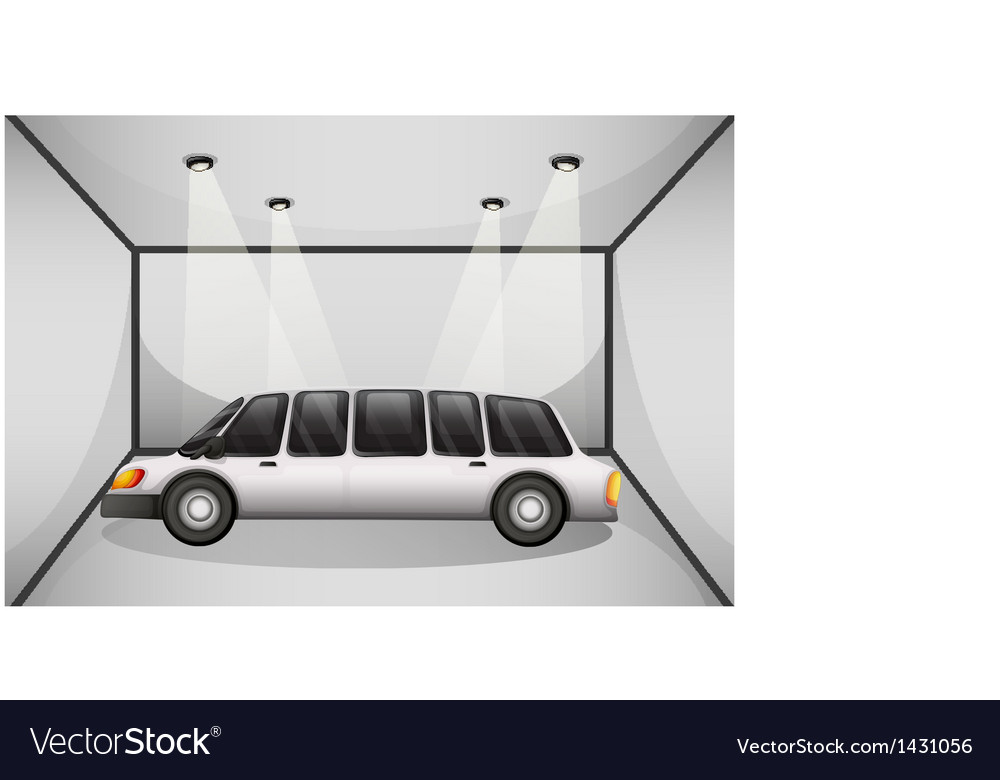 A limousine at the garage vector | Price: 1 Credit (USD $1)
