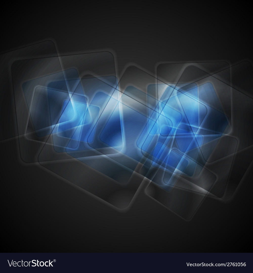 Abstract blue glossy squares background vector | Price: 1 Credit (USD $1)