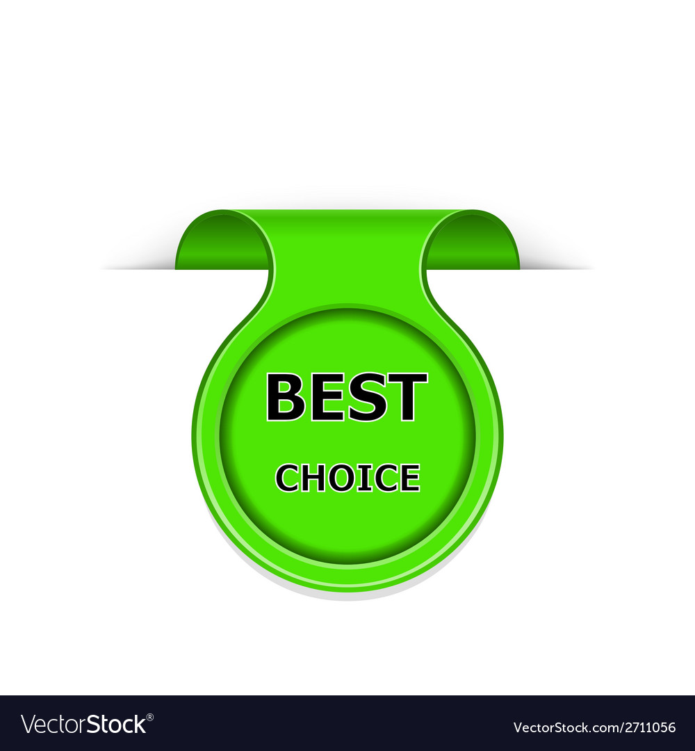 Bookmark with best choice message vector | Price: 1 Credit (USD $1)