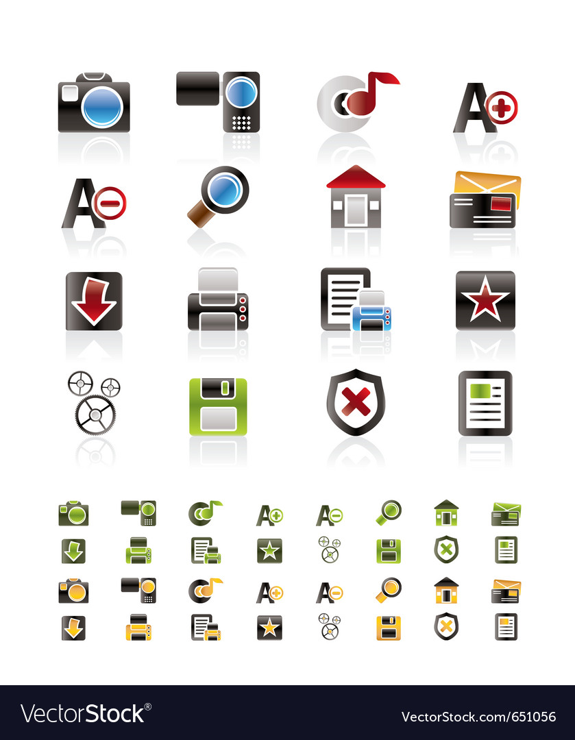 Internet and website icon set vector | Price: 1 Credit (USD $1)