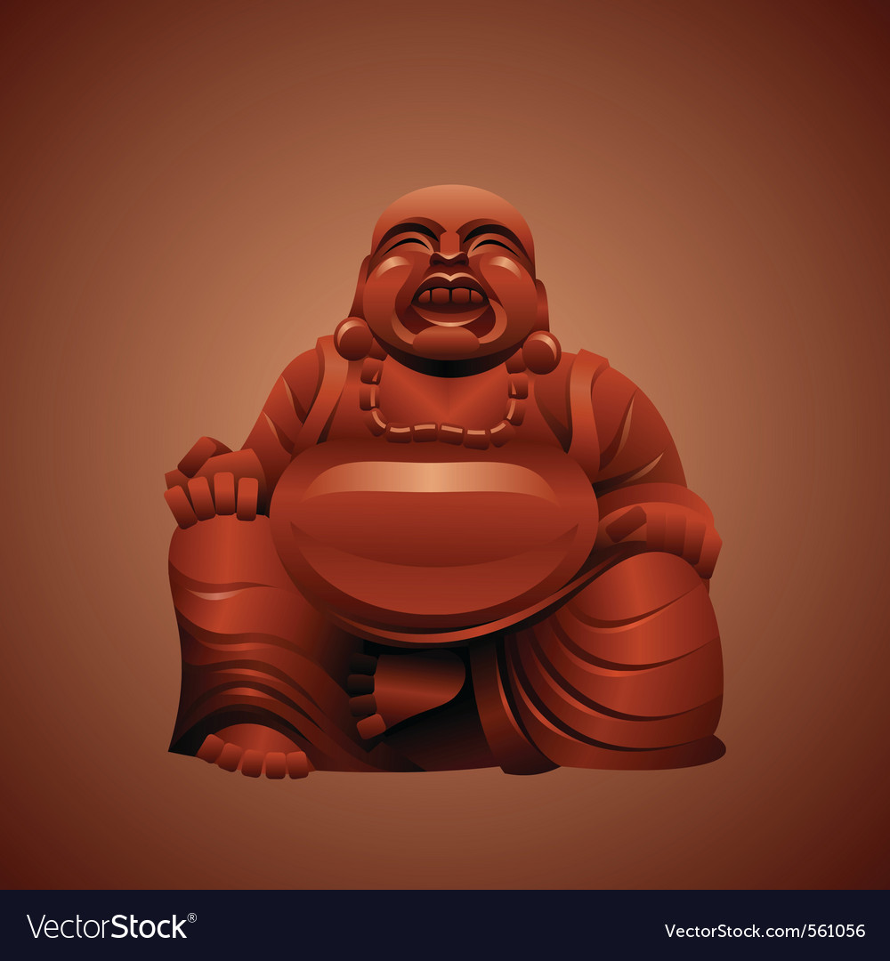 Laughing buddha vector | Price: 3 Credit (USD $3)