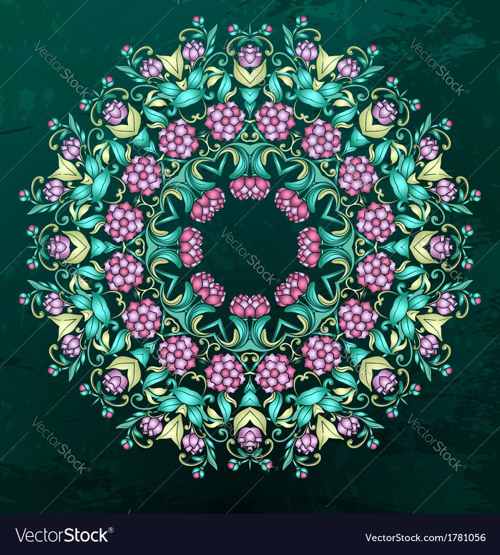 Round indian pattern mandala vector   Price: 1 Credit (USD $1)