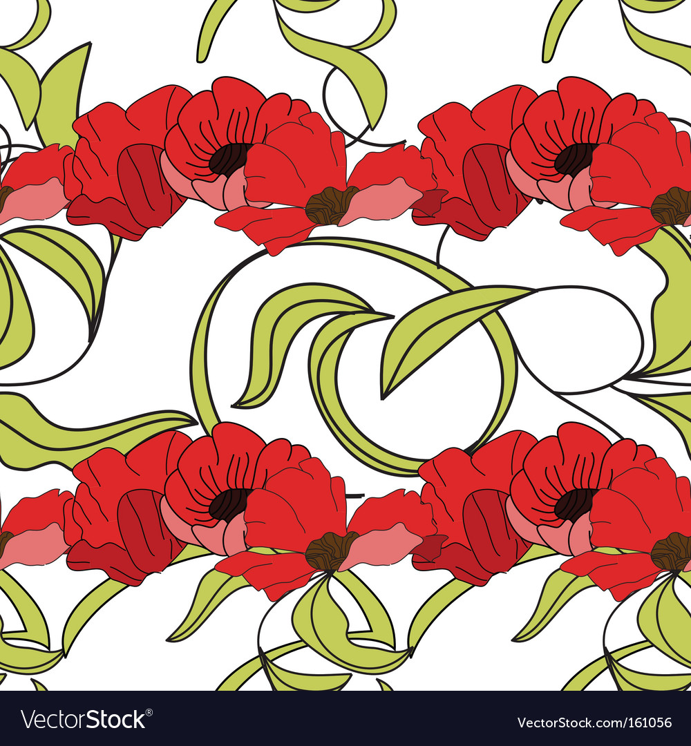 Summer floral seamless wallpaper vector | Price: 1 Credit (USD $1)