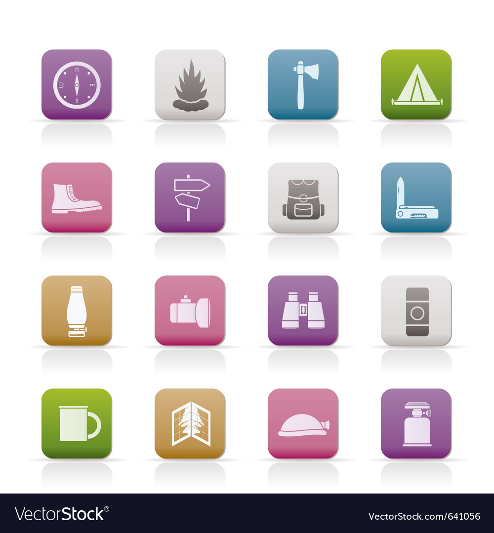 Tourism and holiday icons vector | Price: 1 Credit (USD $1)