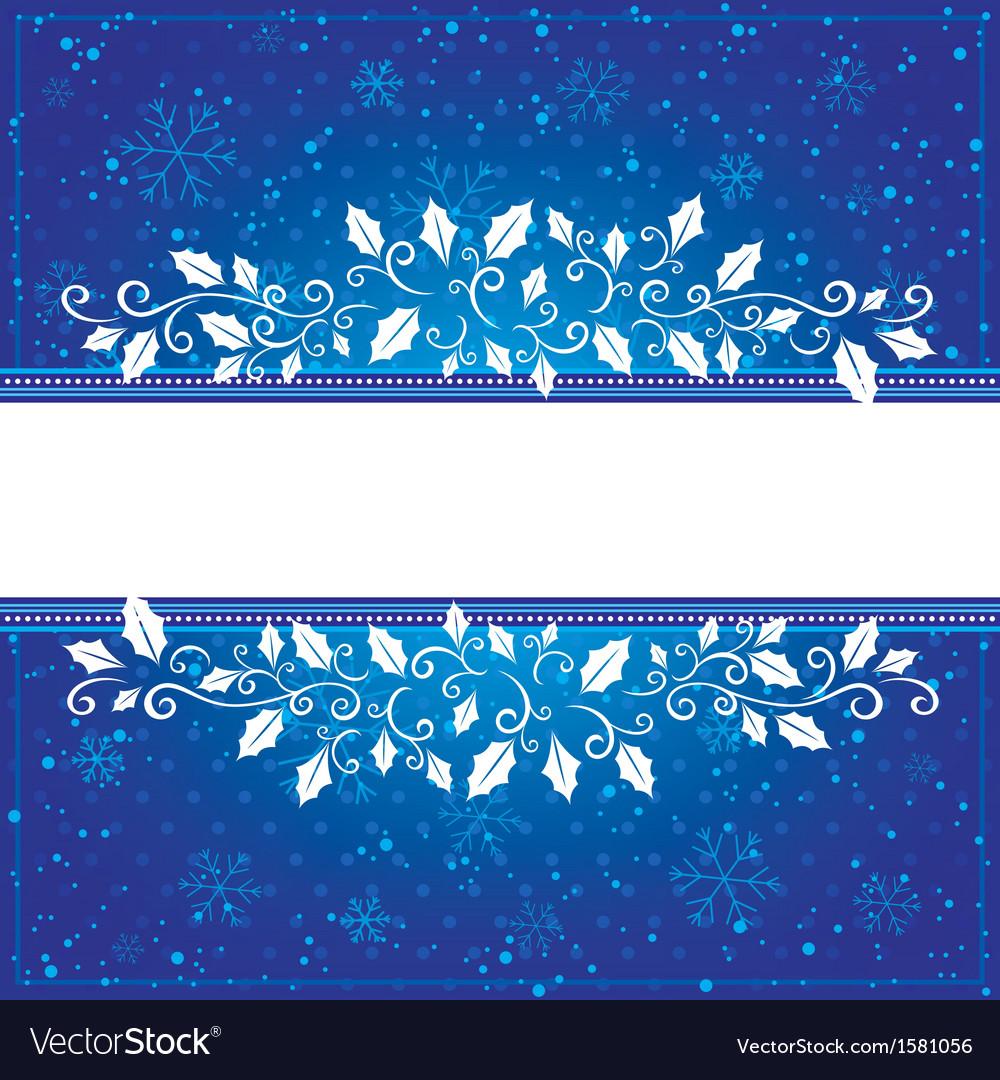 Winter blue card vector | Price: 1 Credit (USD $1)