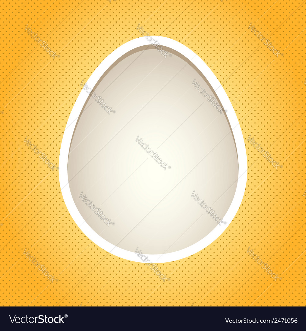 Yellow egg frame vector | Price: 1 Credit (USD $1)