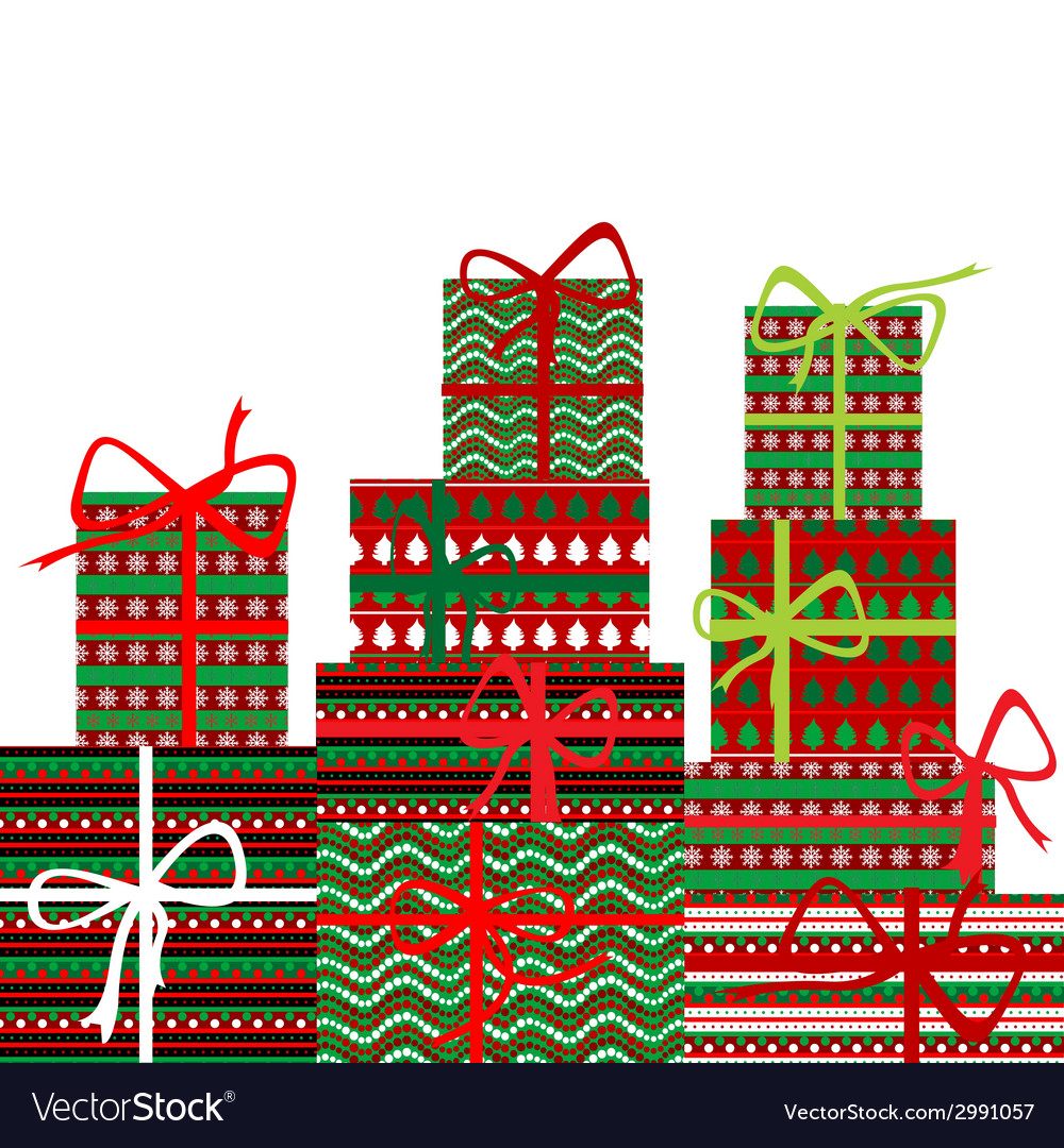 Background with gift boxes vector