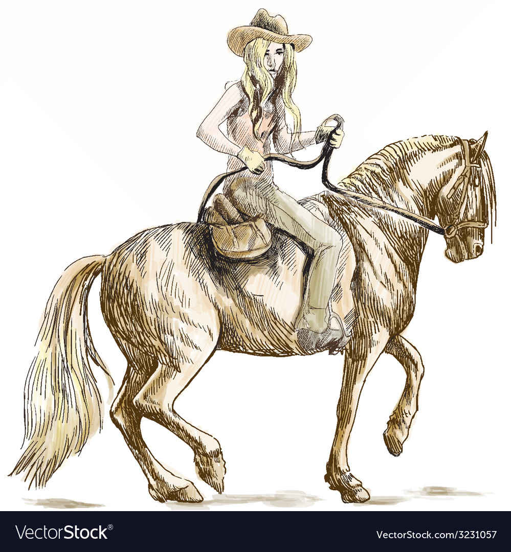 Cowgirl vector | Price: 1 Credit (USD $1)