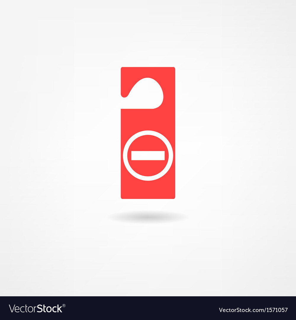 Disturb icon vector | Price: 1 Credit (USD $1)