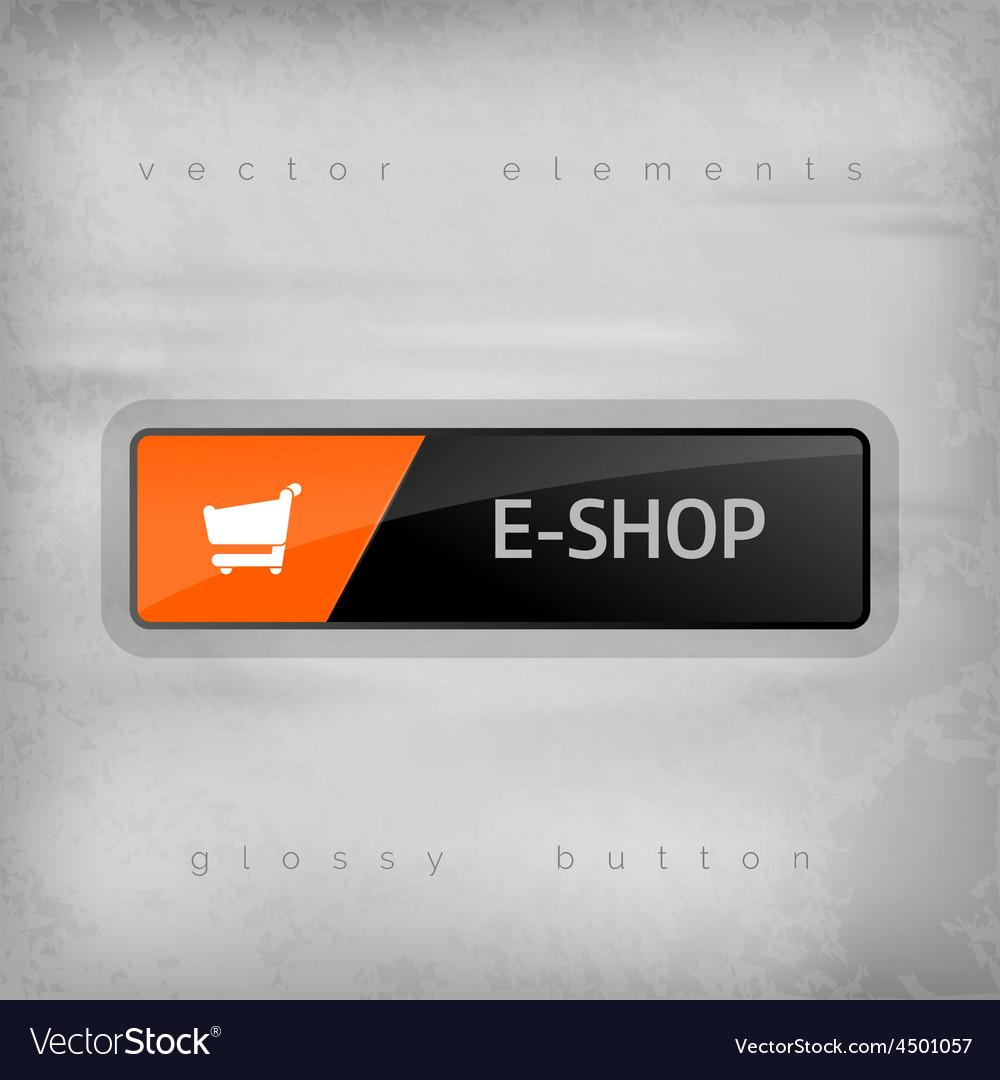 E-shop button vector | Price: 1 Credit (USD $1)