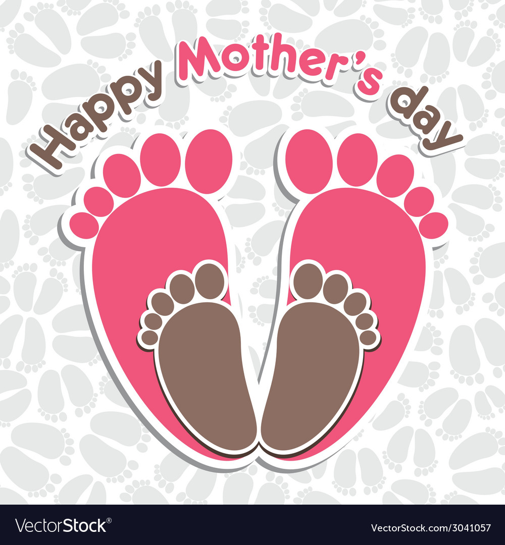 Happy mother s day greeting background vector | Price: 1 Credit (USD $1)