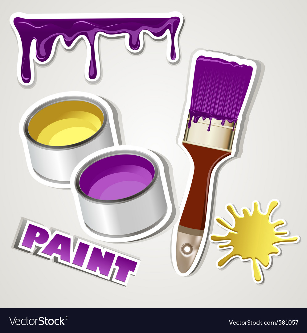 Set sticker paint vector | Price: 1 Credit (USD $1)