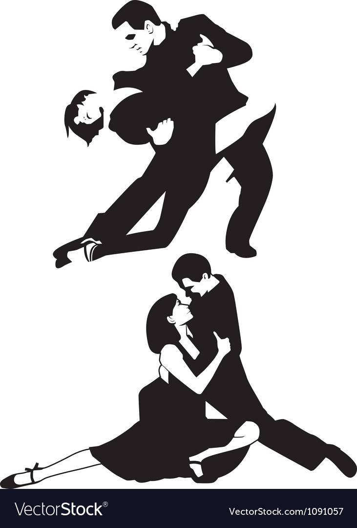 Tango dancers vector | Price: 1 Credit (USD $1)