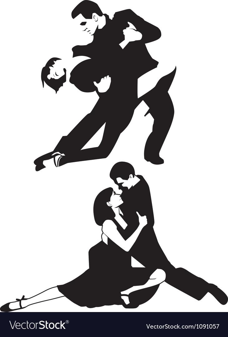 Tango dancers vector | Price: 1 Credit (USD $1)