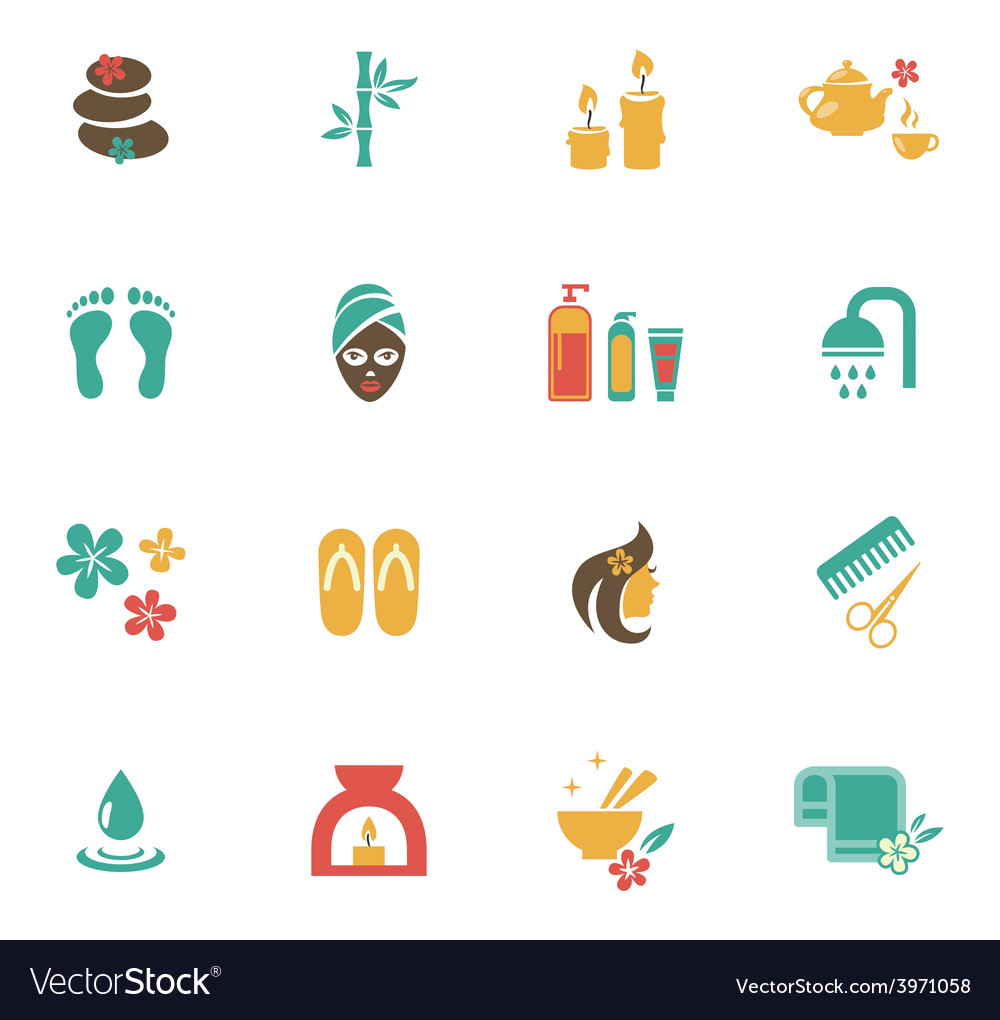 Beauty and spa icons vector | Price: 1 Credit (USD $1)