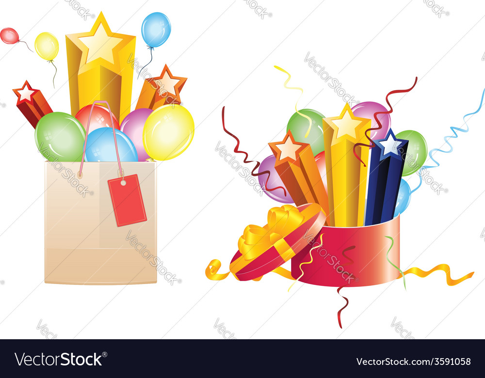 Celebration gifts vector | Price: 1 Credit (USD $1)