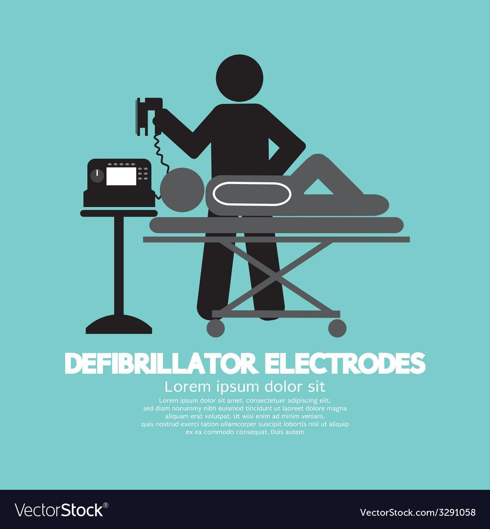 Defibrillator electrodes symbol vector | Price: 1 Credit (USD $1)