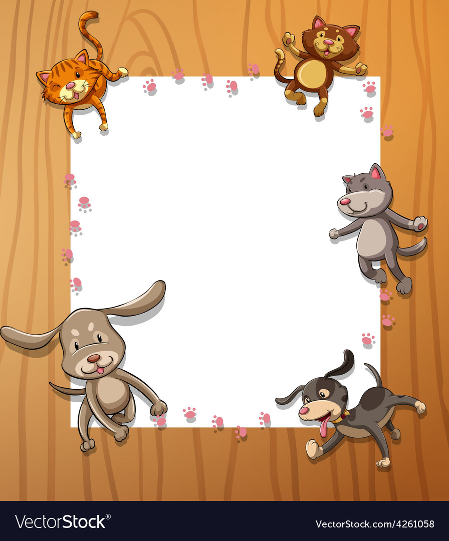 Frames with animals vector | Price: 1 Credit (USD $1)