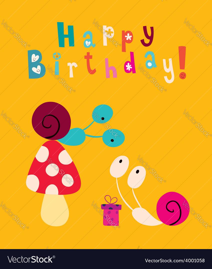 Happy birthday card 6 vector | Price: 1 Credit (USD $1)