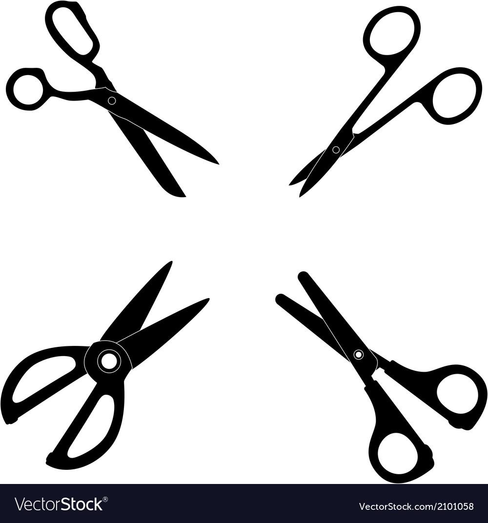 Icon set of scissors vector | Price: 1 Credit (USD $1)