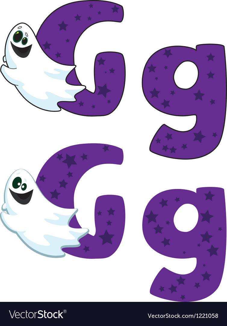 Letter g ghost vector | Price: 1 Credit (USD $1)